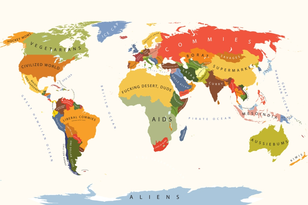 Estereotipos y cliché; el mundo según los Estados Unidos.