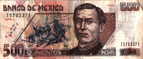Billetes de Doscientos Pesos Billete de 500 Pesos Mexicanos