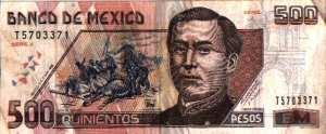 Billete de 500 pesos mexicanos