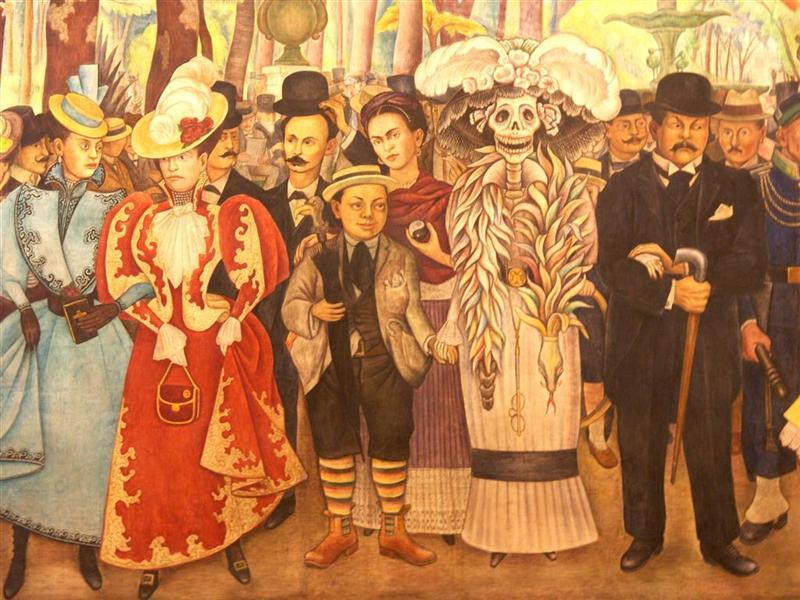 La catrina mexicana el cafet n de las 5 for Un mural de diego rivera