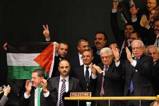 Mahmoud Abbas y la delegación Palestina / Fuente: Efektotv