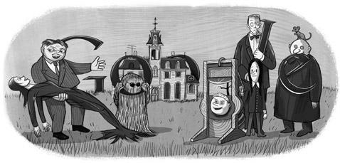 google-doodle-Charles-Addams