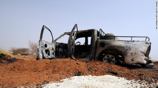 Bombardeo aéreo/ Fuente: CNN