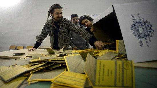 Contando votos/ Fuente: RTVE