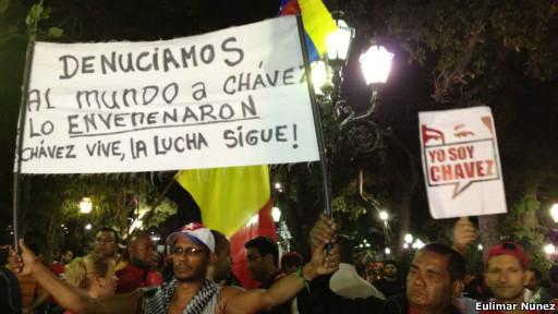 Manifestación chavista/ Fuente: Euli Marnunez