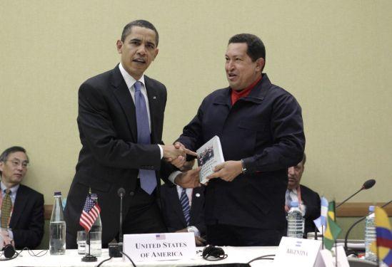 Obama y Chávez/ Fuente: Huffingtonpost