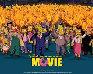 Como en tantas ocasiones, Los Simpsons dan al clavo con su crítica de las masas.