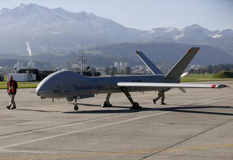 Drone estacionado en Líbano/Fuente: La razón